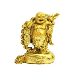 Golden Laughing Buddha