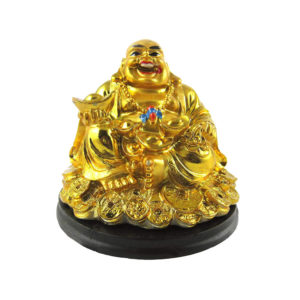 Laughing Buddha with Coin