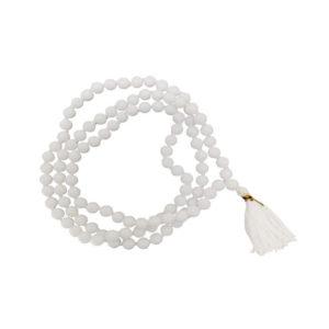White Agate Mala
